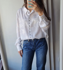 Bijela oversized bluza