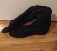 Massimo Duti čizme crne k'o čarape navući