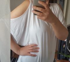 Bijela lagana majica s otvorenim ramenima L
