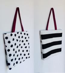 Dvostrana torba 🍓 crno bijela