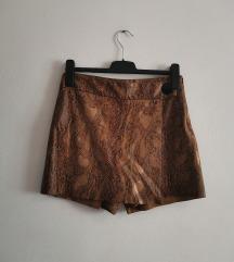 ZARA animal print kratke hlače/suknja