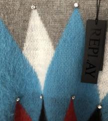 NOVI Replay oversized džemper vel. S M L
