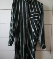 Zara zelena šljokasta košulja/haljina