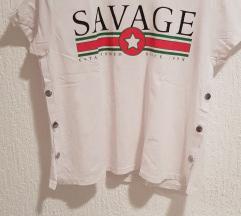 Crop bijela majica s printom