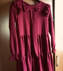 Haljina bordo crvena sa masnom ❤️
