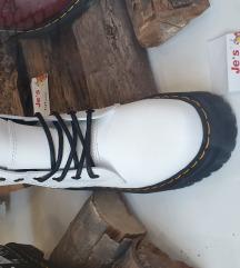 Dr. Martens Bijele čizme s potplatom