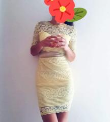 Žuta čipkasta haljina