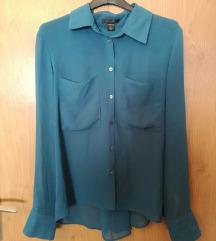AMISU Tirkizno plava oversize košulja