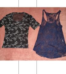 2 prozirne/cipkaste majice