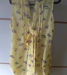 Žuta košulja s mašnom