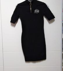 Mini crna haljina sa zipom