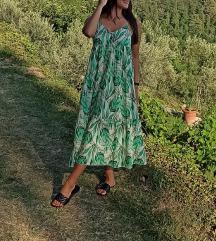 Nova duga zelena haljina (UNIVERZALNA VEL.)