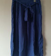 Midi suknja plava