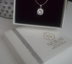 Nokaj srebrna ogrlica