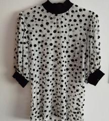 Točkasta crna bijela majica