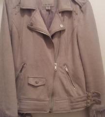 Sivo bež jakna vel 36