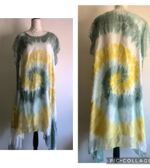 Tye Dye haljina lan i svila