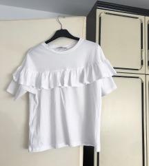 NOVA Mango bijela majica top s volanima 💜🌸