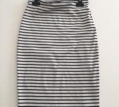 Pencil - olovka kroj uska suknja na prugice