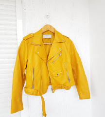 ZARA žuta biker kožna jakna / jaketa