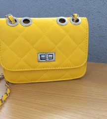 Žuta kožna torbica preko tijela, Novo.
