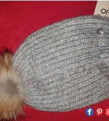 Liu Jo zimska kapa s krznom. Novo!Original