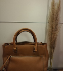 Velika torba/ karamel boje