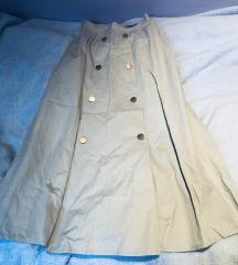 %%% Asos duga siva suknja s gumbima XS