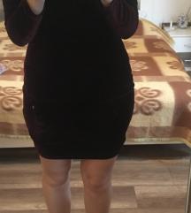 Bordo svecana haljina