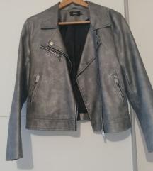 ONLY metalik kožna jakna nova 38