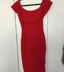 Zara uska elegantna haljina spuštenih ramena