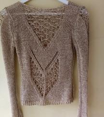 Vintage končani  pulover, S