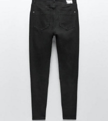 Nove Zara crne hlace visokog struka s etiketom