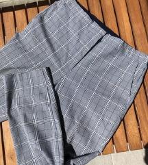 ZARA sive karirane poslovne hlače
