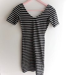 H&M prugasta uska mini haljina