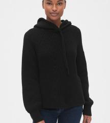 Gap novi pleteni hoodie pulover M