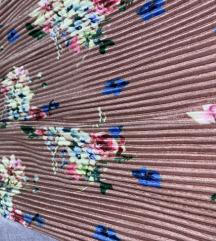Zara baršunasta cvjetna suknja