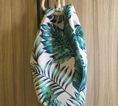 Torba za plažu (turtle bag) tropskog uzorka