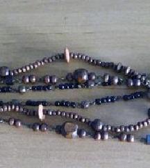 Ogrlica od drva i perli
