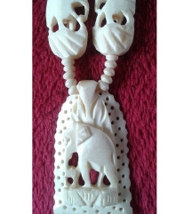 Ogrlica od slonovače -Afrika(unikat)