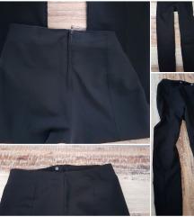 Crne uske tajica stil hlače