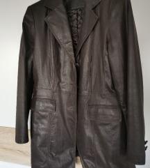 Kožni kaput futrani vel.42