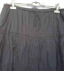 Crna suknja na volane, XXL