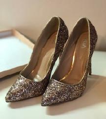 Štikle šljokice zlatne  WISH (iz ducana shoebox)