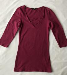 Tally Weijl majica s lace-up detaljem