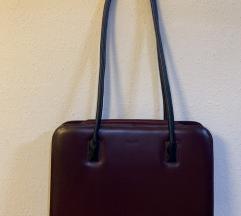 Galko torba boje vina (prava koža)