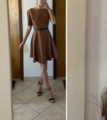 Orsay smeda/narandasta haljina