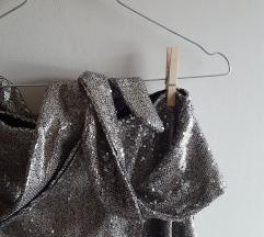 🖤 ZARA srebrna suknja M/38