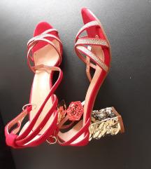 Sandale NOVO (zlatno crvene)