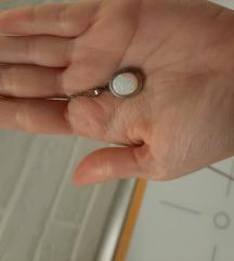Srebrna (925) ogrlica s srebrnim Opal privjeskom